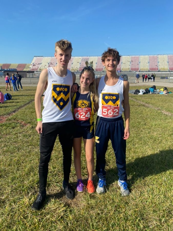 Roosevelts three state qualifiers at Michigan International Speedway for the  state race. Rankine (Left) placing 69th, Cost (Middle) 67th, and Makuch 56th.