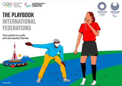 The front cover of the playbook for this years Olympics.