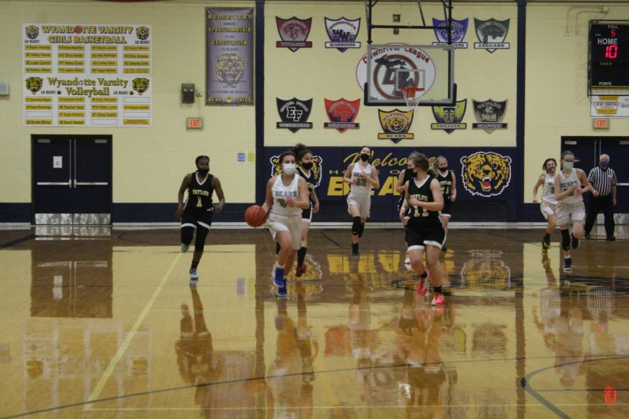 The girls JV basketball team is struggling this season, but most players are grateful to be playing a season at all.