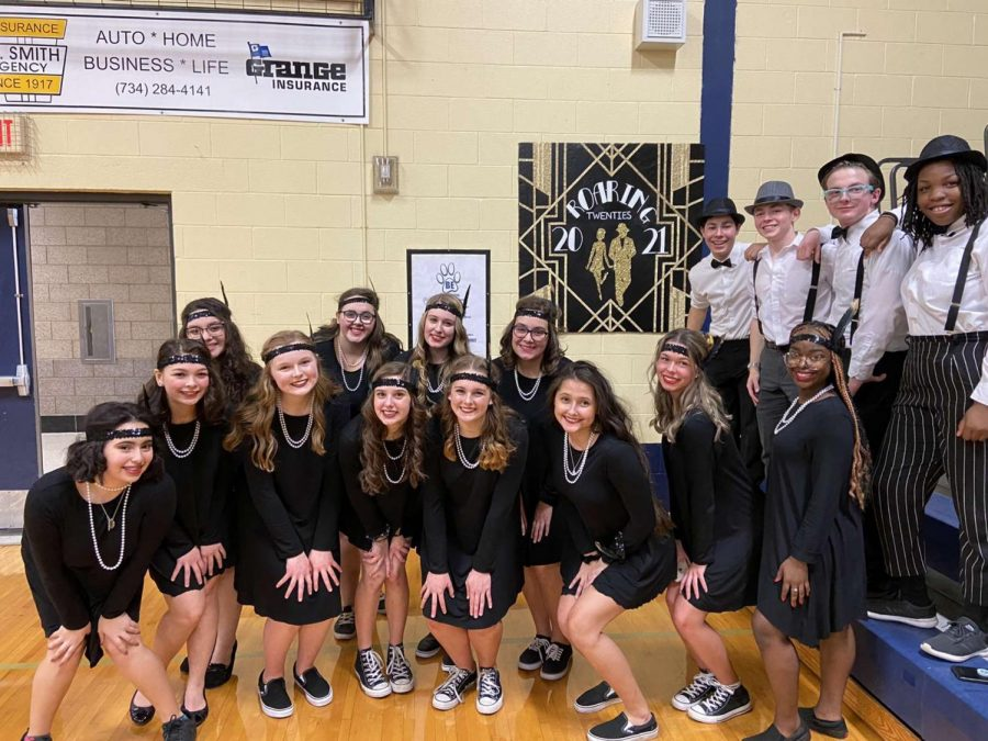 The class of 2021 Lip Sync group in February 2020, shortly before the COVID shutdown.